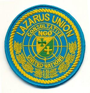 UN-NGO Lazarus Union Abzeichen