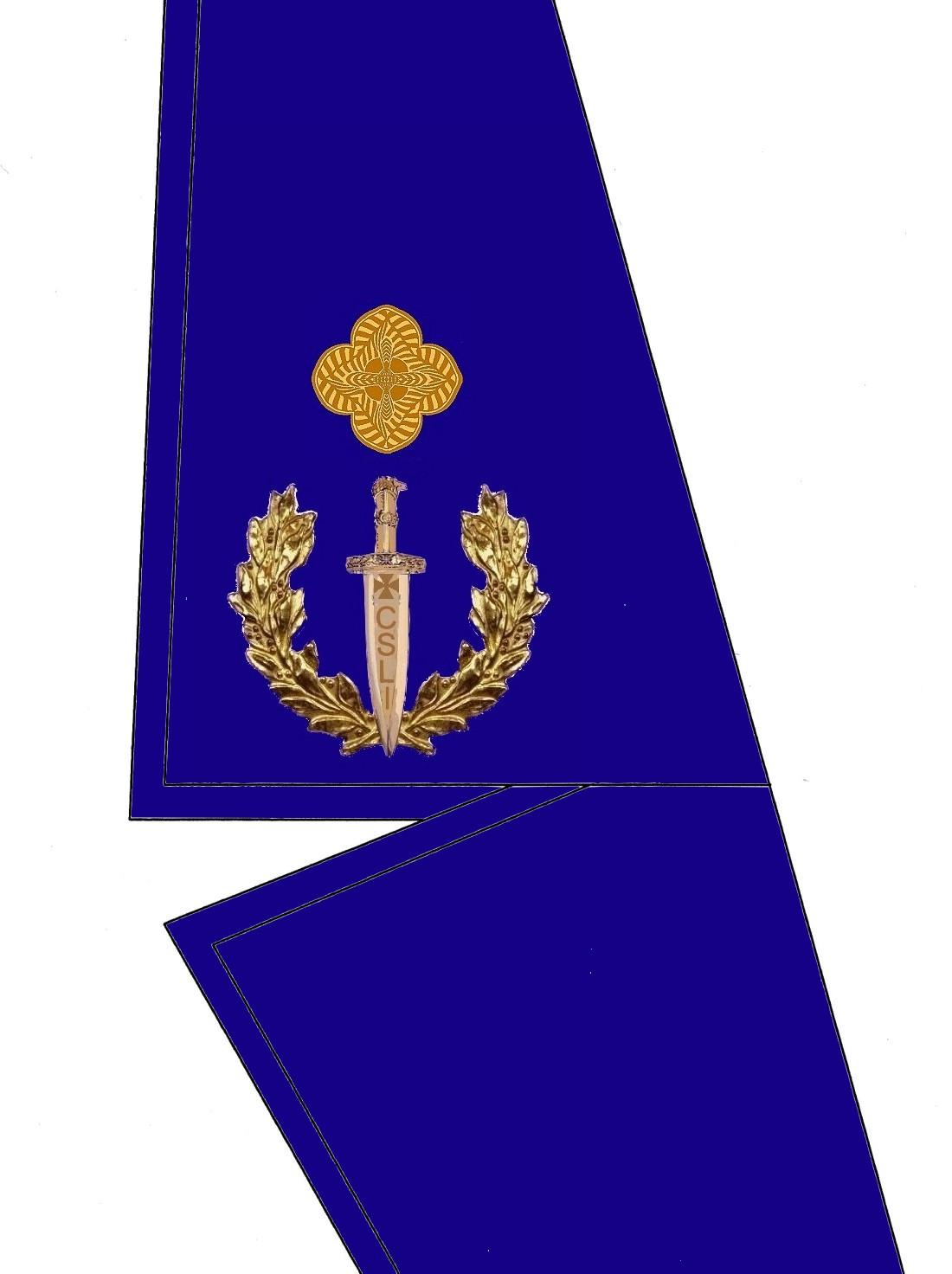 18 Kragen Rangabzeichen Brigadier General HG Blau
