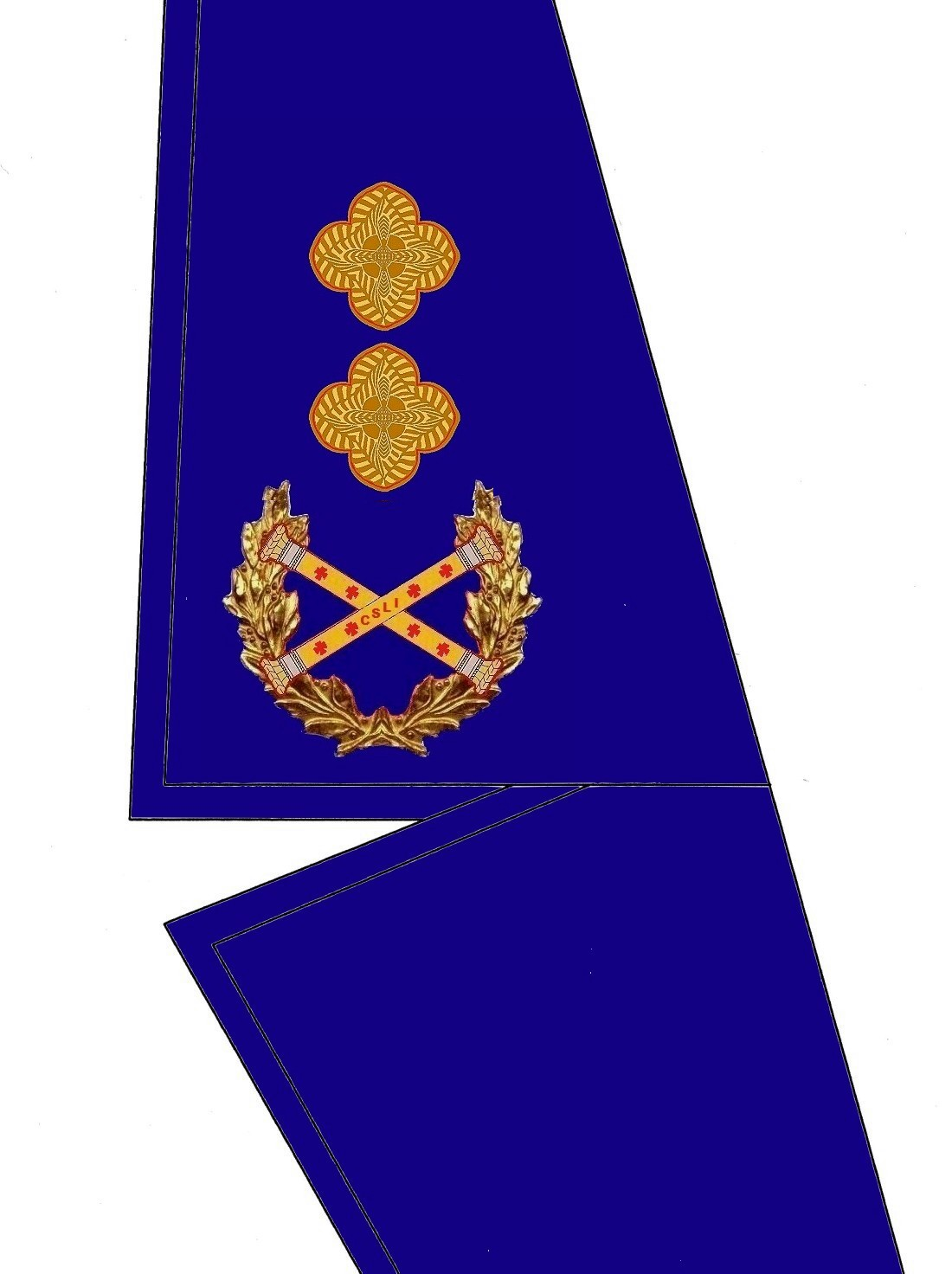 23 Kragen Rangabzeichen GenSek-Schatzmeistert HG Blau