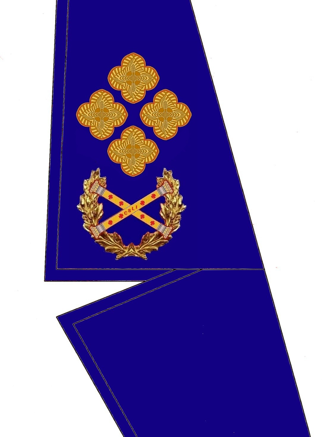 25 Kragen Rangabzeichen Präsident HG Blau