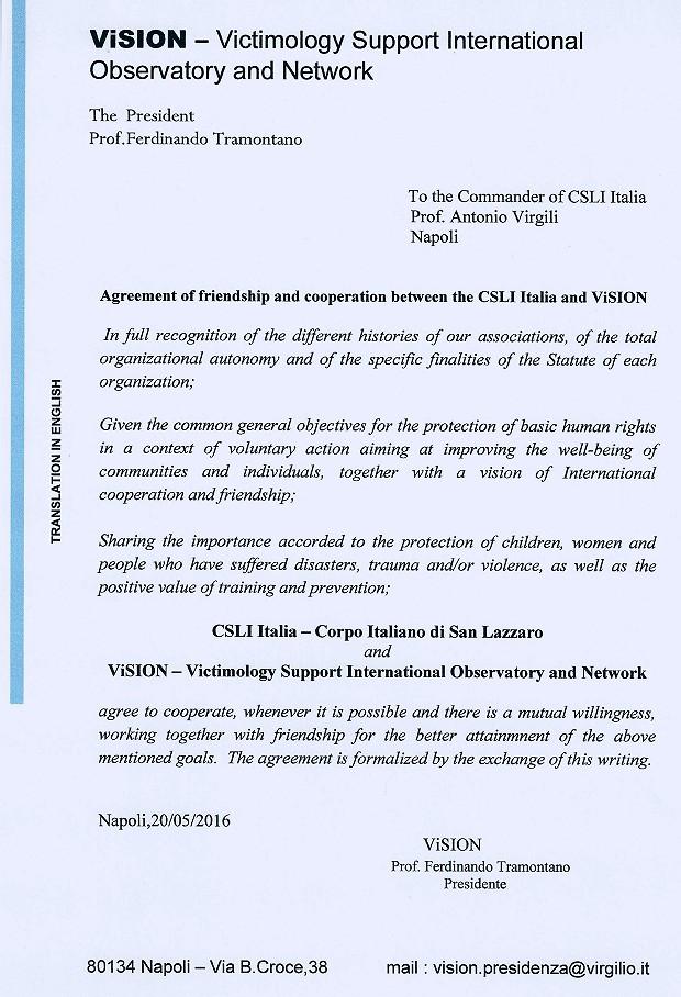 Accordo VISION CSLI Italia-ENG