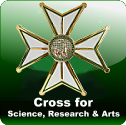Cross for science, research and arts
