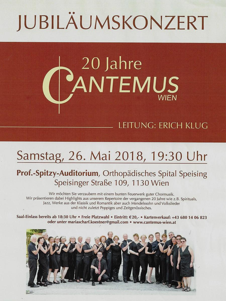 Cantemus Konzert Ankündigung