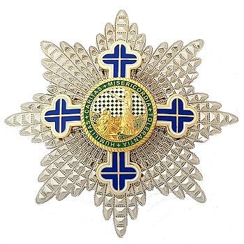 Friedenskreuz mit Silberstern 01 ohne HG 350