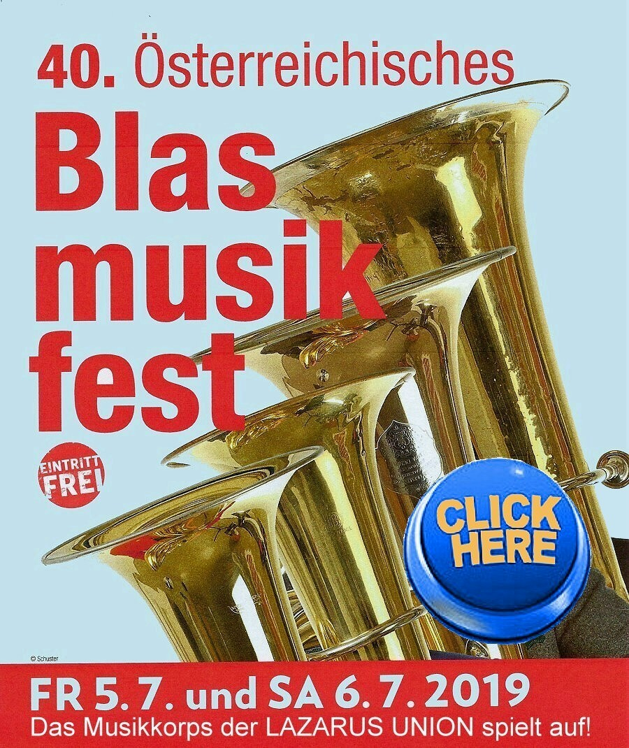 Plakat 40.Blasmusikfest Ankündigung HP 900 CLICK