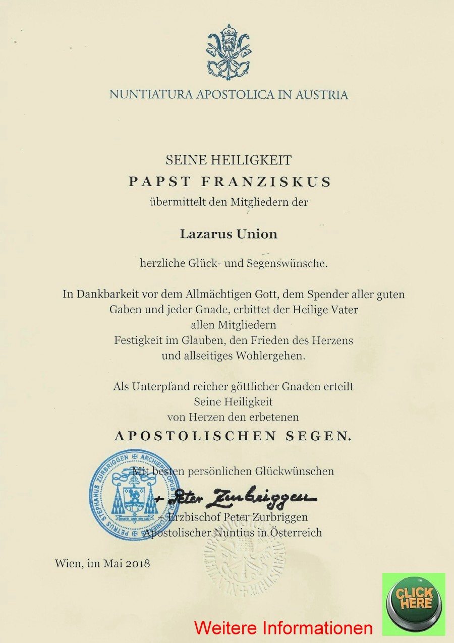 Segen von Papst Franciskus 900 weitere Informationen