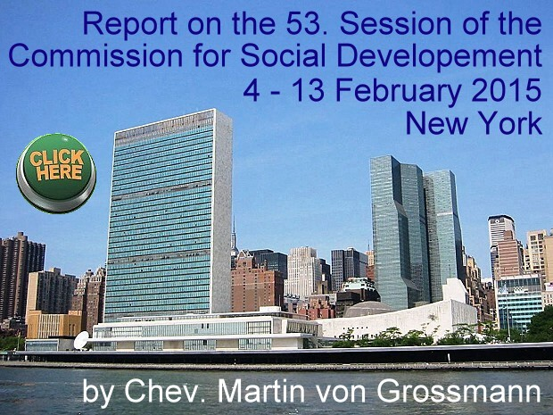 Report on the 53. Session of the Commission for Social Development