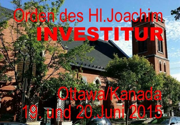 260 Jahre Orden des Hl.Joachim, Investitur