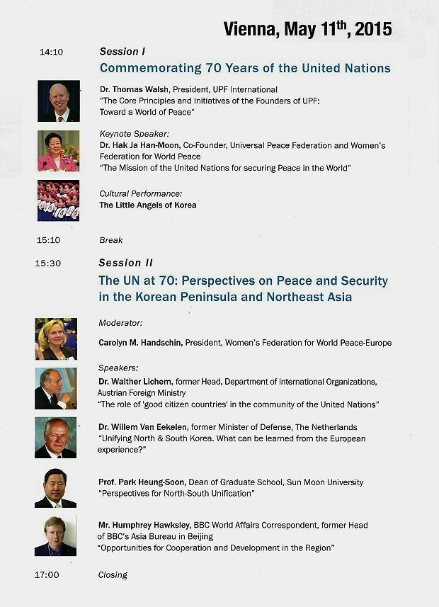 Corean Peninsula Conference Program 2