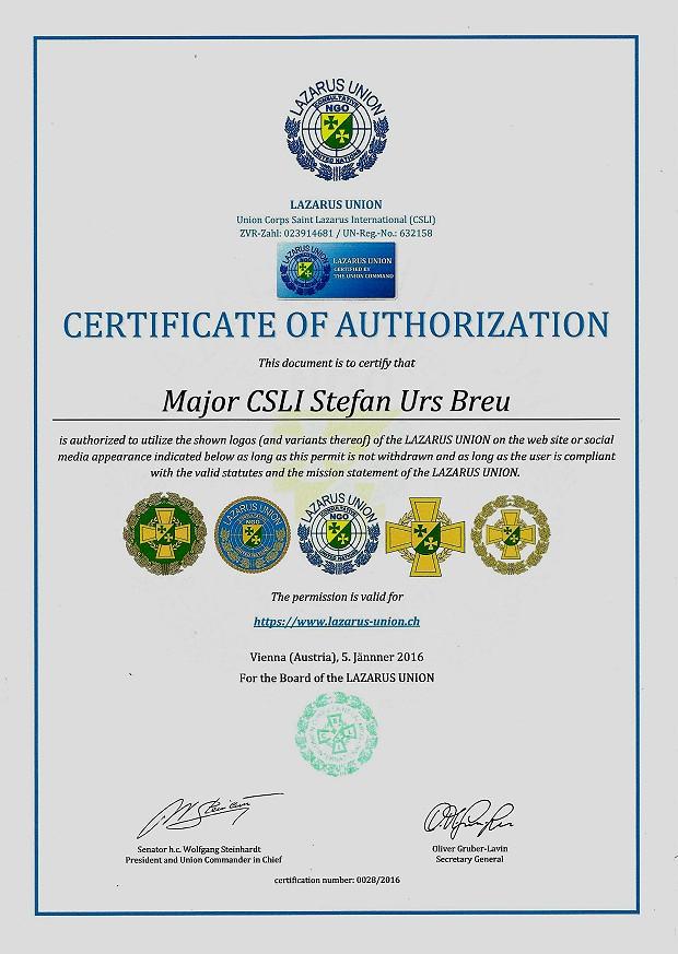 Zertifikat 28