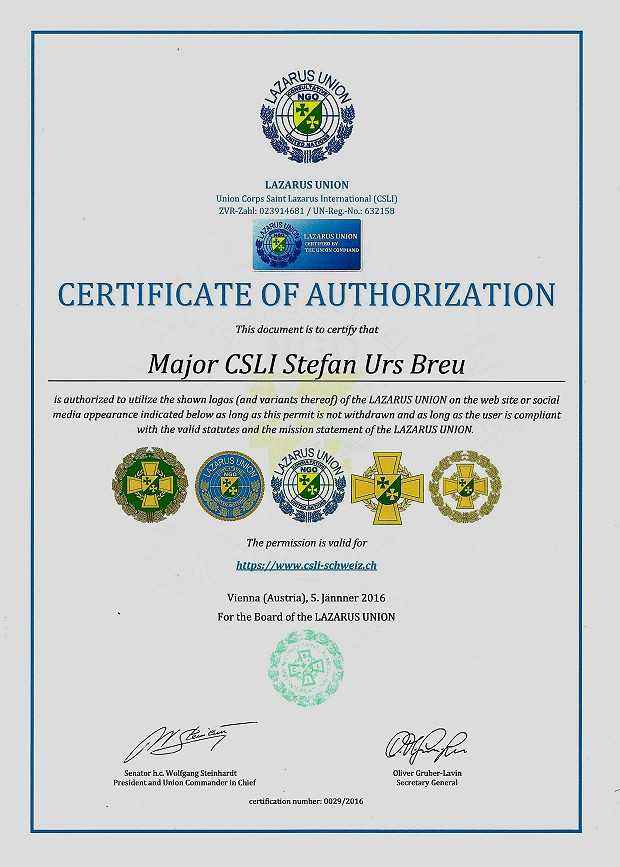 Zertifikat 29