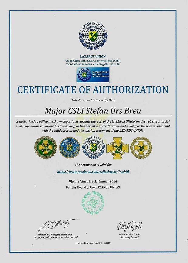 Zertifikat 31