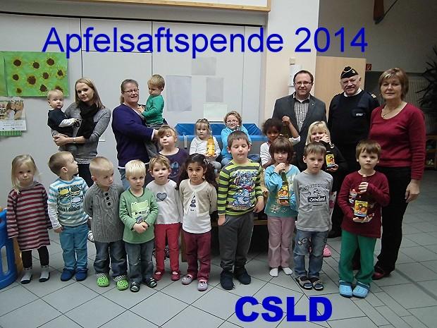 Apfelsaftspende 2014 CSLI Deutschland (CSLD)