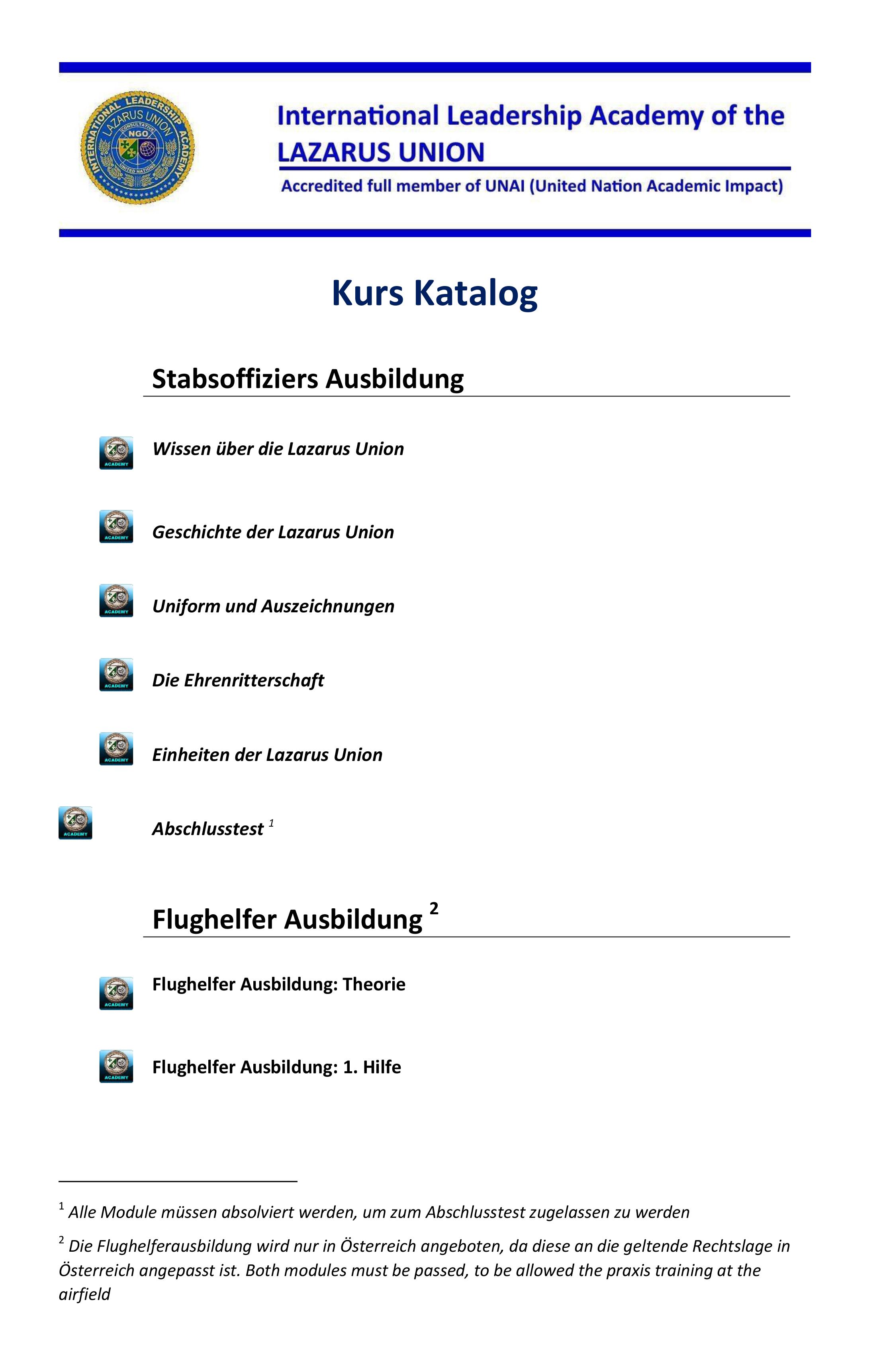 Kurs Katalog