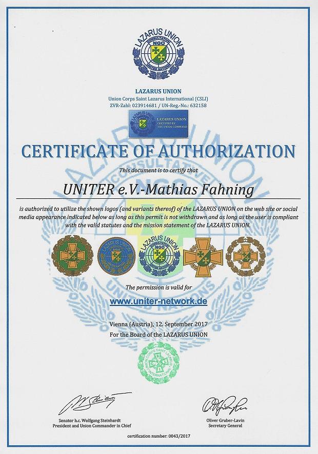Zertifikat 43