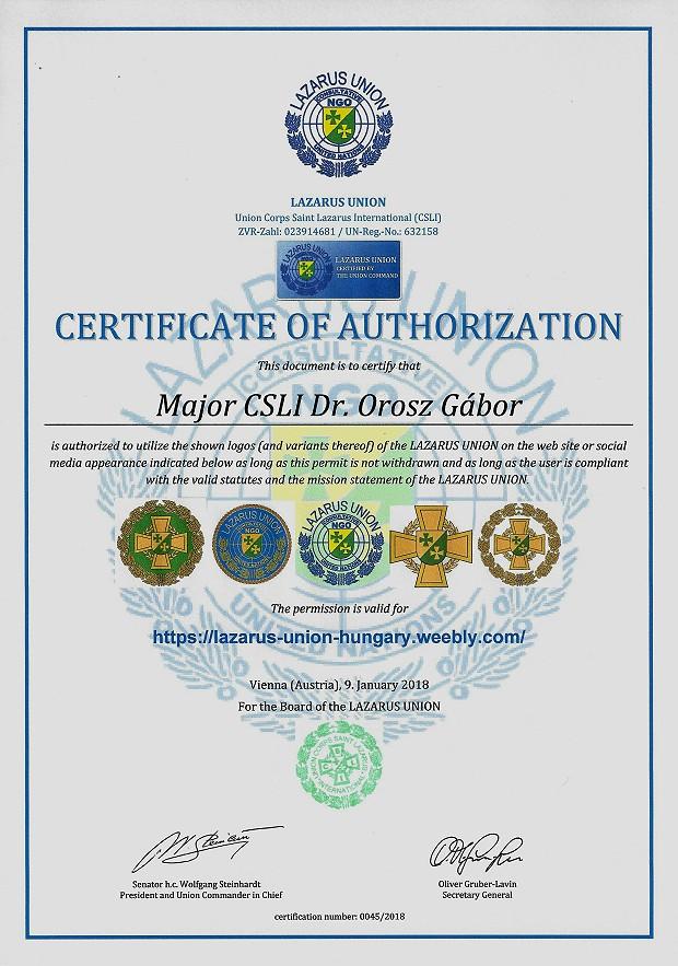 Zertifikat 45