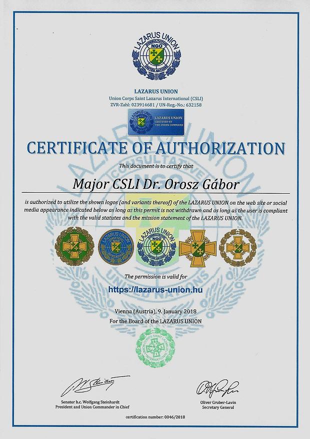 Zertifikat 46