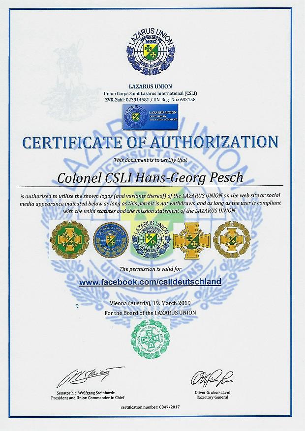Zertifikat 47