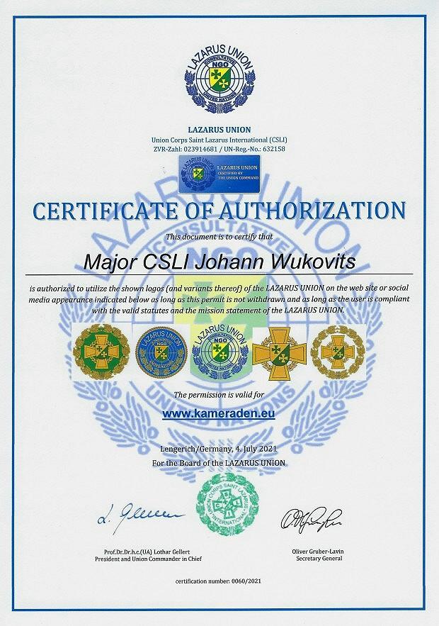 Zertifikat 60