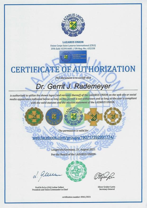 Zertifikat 61