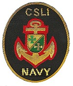 CSLI Navy Corps Aufnäher gestickt 150