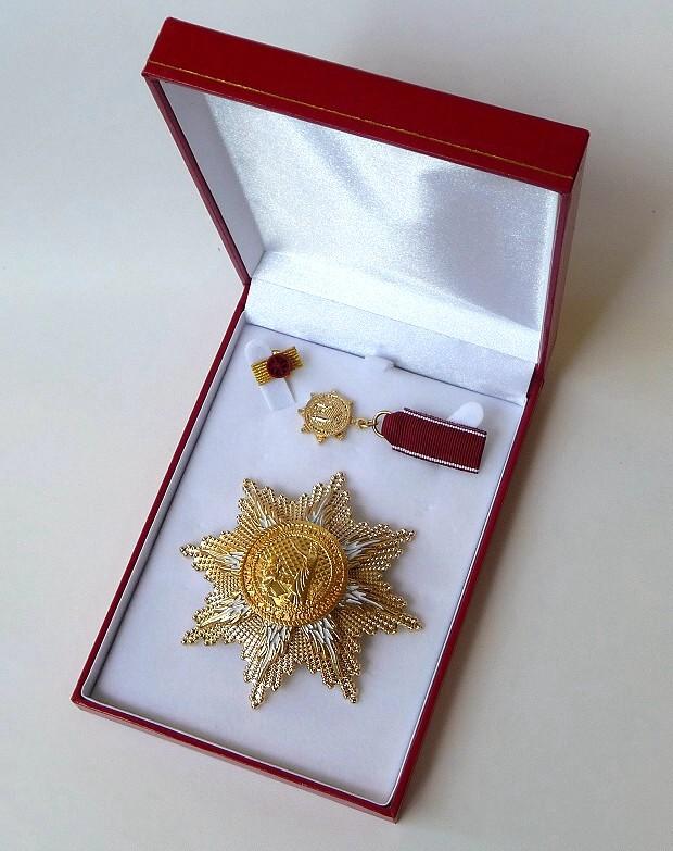 Großer Goldener Ehrenstern mit Etui 620a