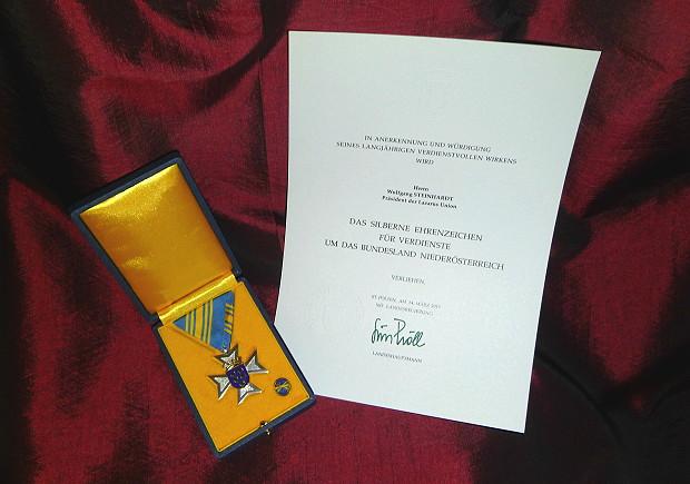 Auszeichnung mit Urkunde WST 620