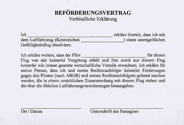 Beförderungsvertrag
