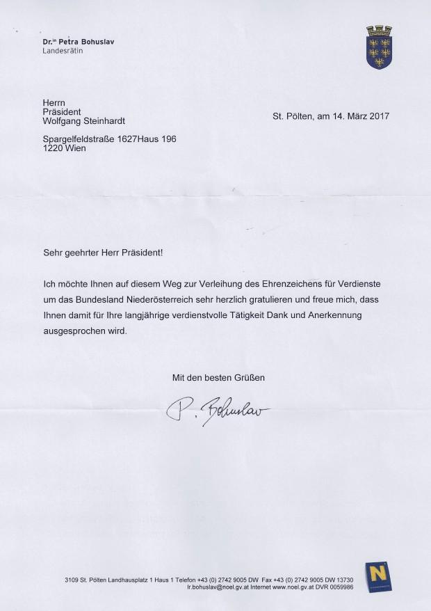 Glückwunsch SEZ NÖ WST von LR Dr. Petra Bohuslav
