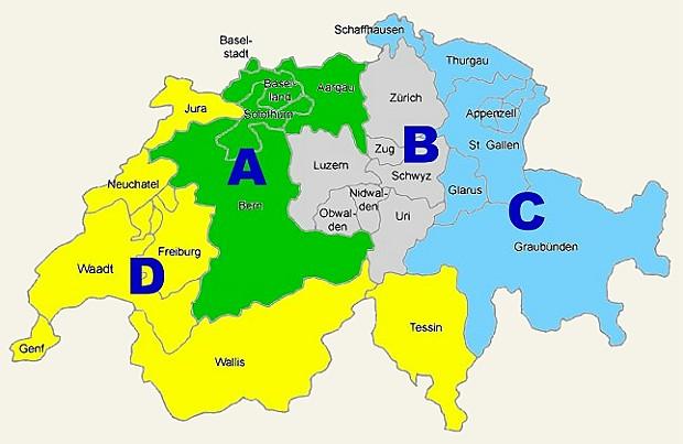 UNITER Distrikte Schweiz