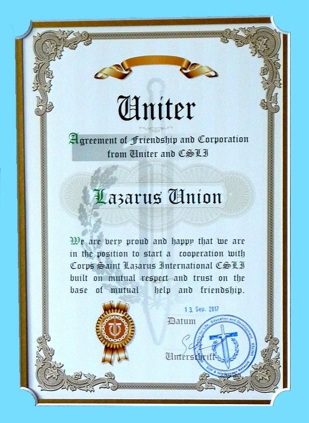 UNITER Urkunde