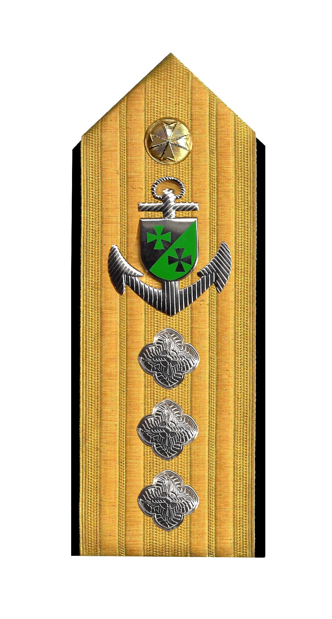 Admiral mit Anker 3 Rosetten