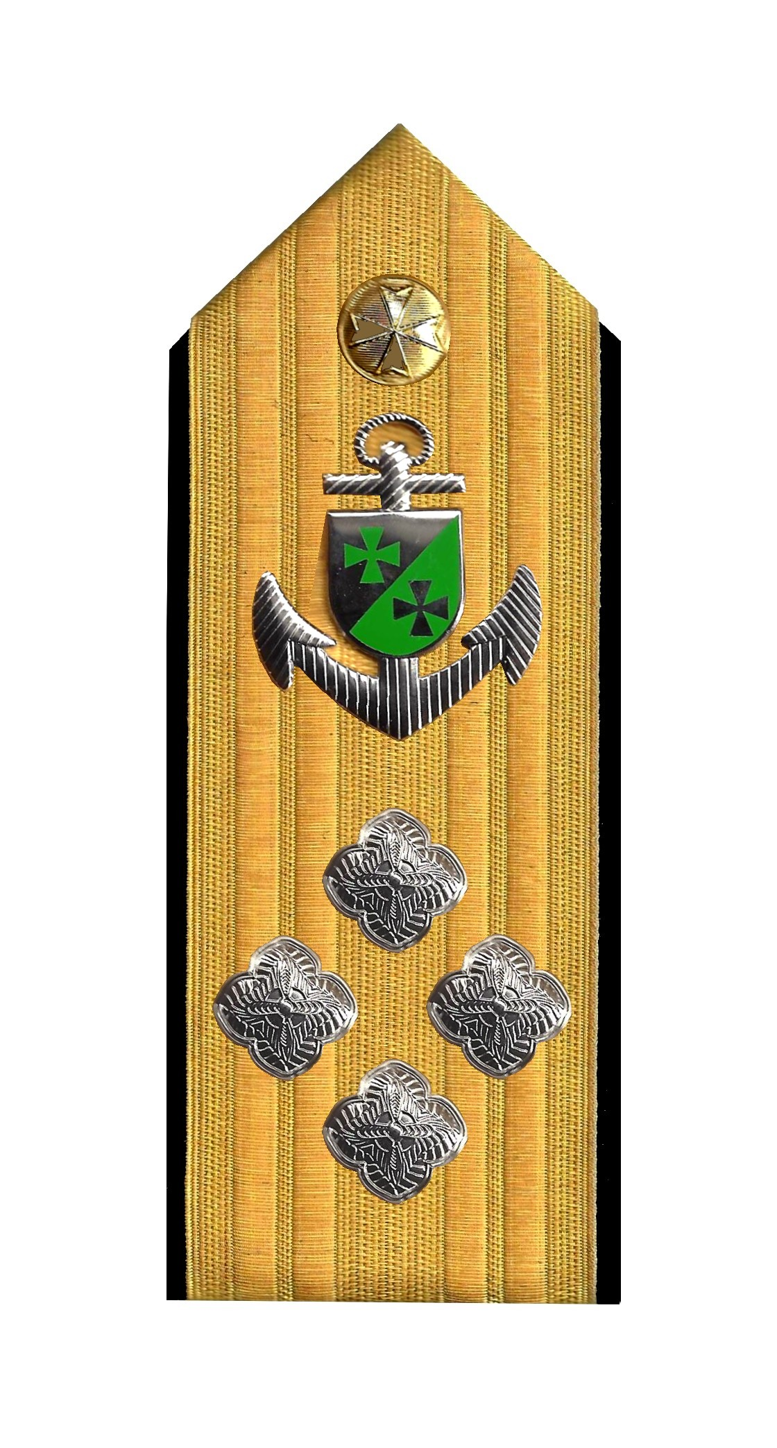 Admiral mit Anker 4 Rosetten