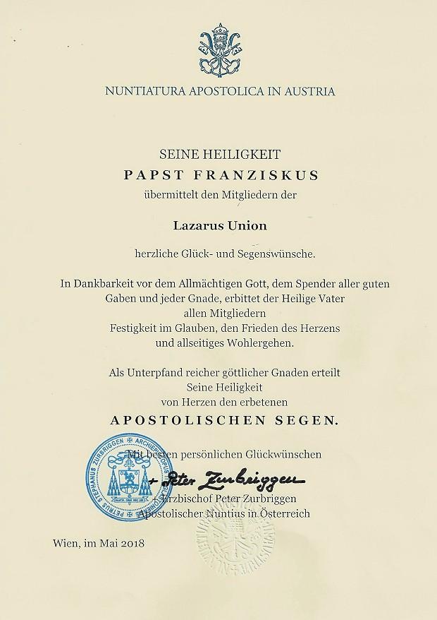 Segen von Papst Franciskus 620