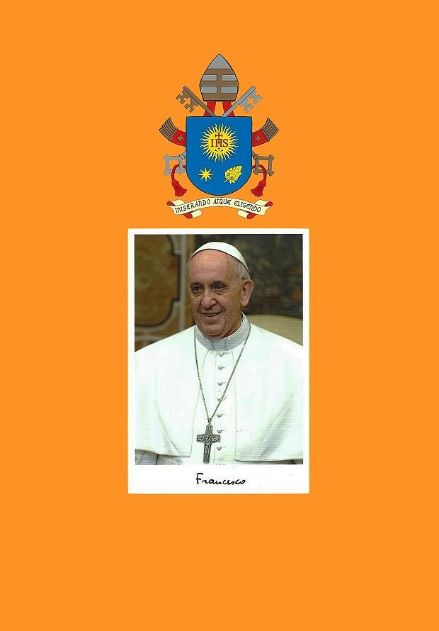 Umschlag und Bild Segen von Papst Franciskus Wappen Farbe 620