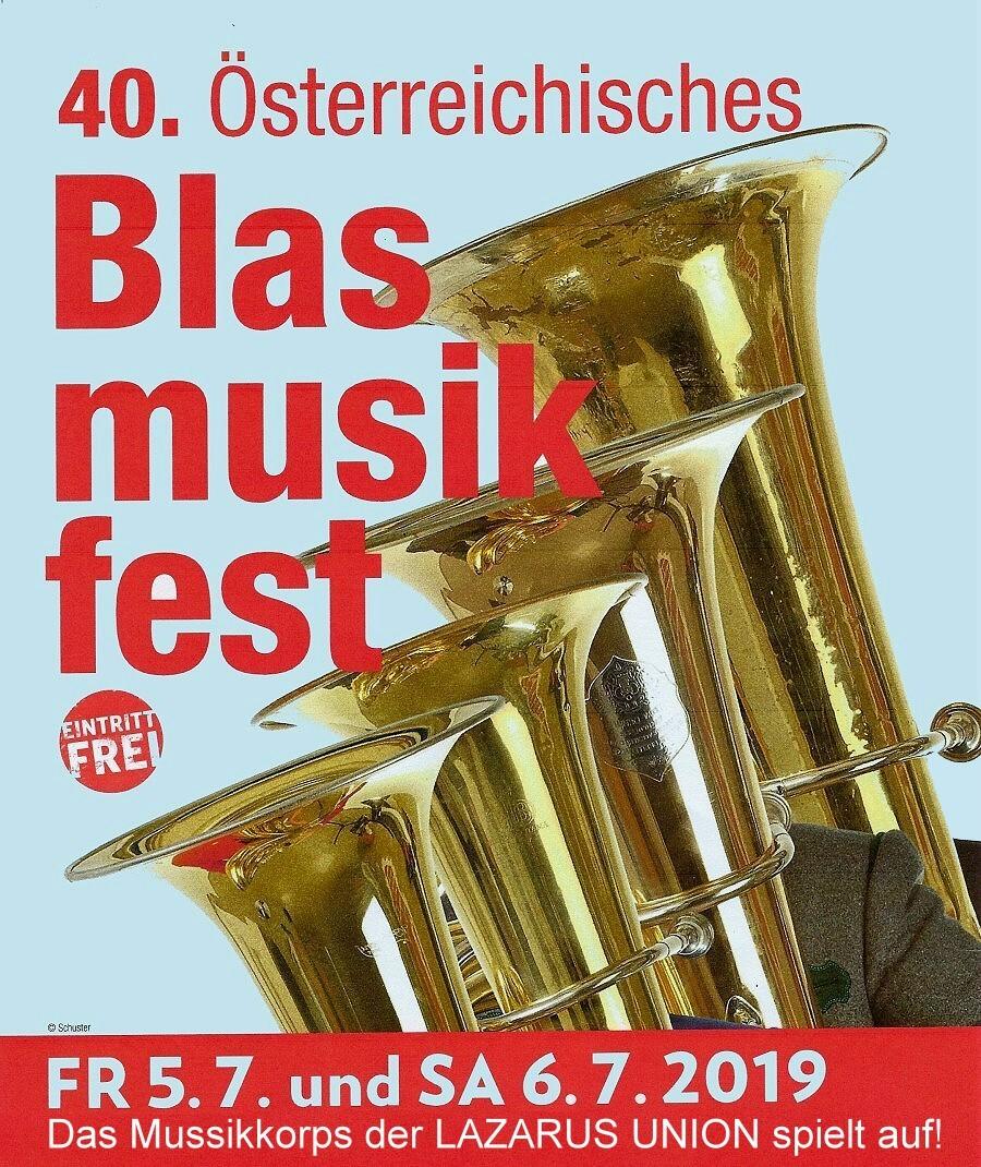 Plakat 40.Blasmusikfest Ankündigung HP 900