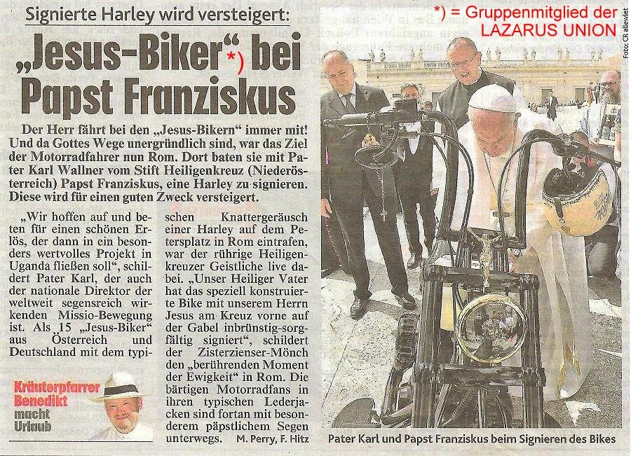 Bericht JESUS BIKER in Kronenzeitung 900