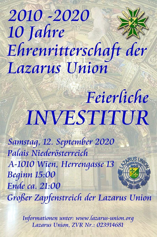 Ankündigung Investitur 2020 DEU 900