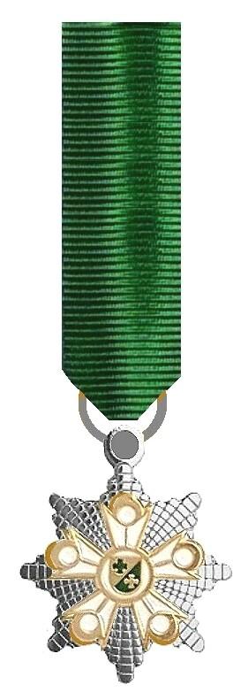 a Miniaturbänder mit Ringen-Insignie und Silberstern ORIGINALMINIATUR 3
