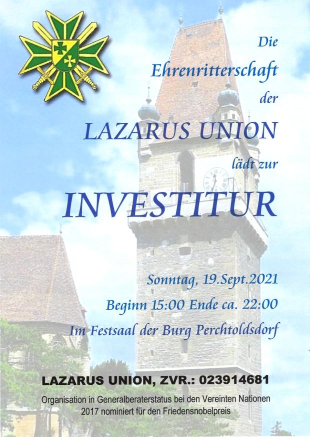 Investitur Ankündugung DEU 620