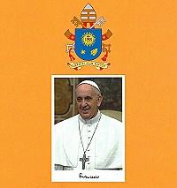 Umschlag und Bild Segen von Papst Franciskus Wappen Farbe 200